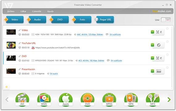 Un genial convertidor de vídeos gratis ,FreeMake
